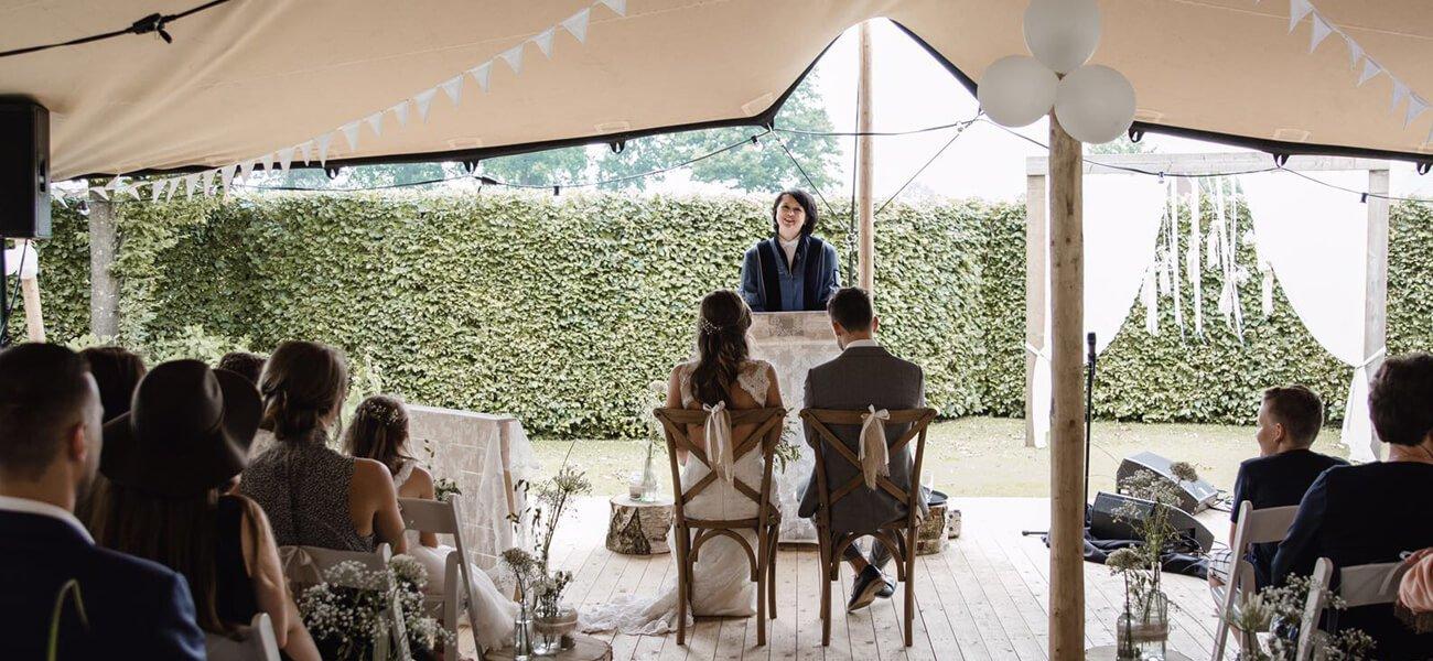 stretchtent huwelijk trouwen