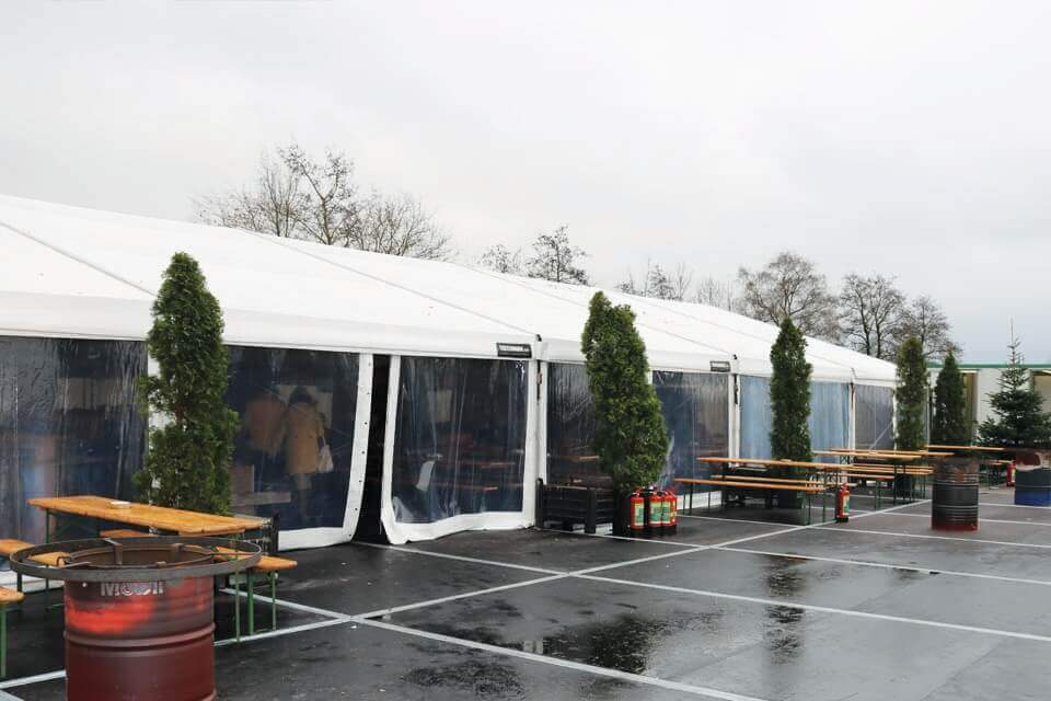 Tent huren voor winterfair